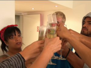 A toast to the final four on The Challenge.