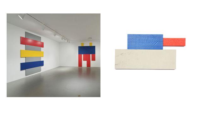 Joe Bradley, installation view of 2008 Whitney Biennial. Grear Patterson, Atlanta, 2015.