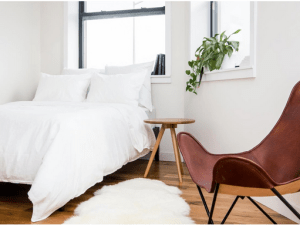 A bedroom at Common's co-living house in Williamsburg.