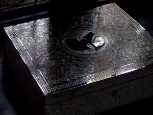"Wu-Tang Clan's ""Once Upon A Time In Shaolin… "" encased in silver and nickel. (Photo: Rashaad Patterson)"