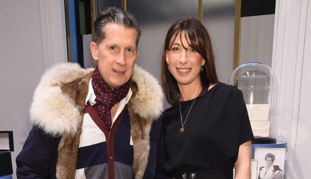 W's EIC Stefano Tonchi and Samantha Cameron