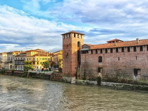 Verona, Castelvecchio and river Adige