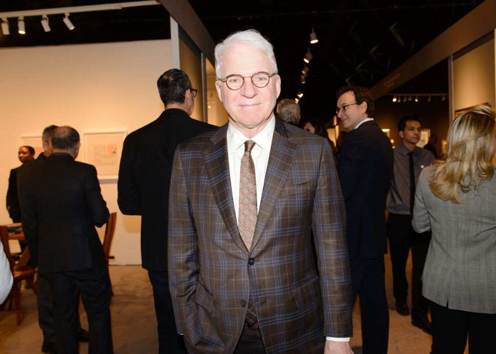 Steve Martin Surprised Guests at The Art Show Gala Preview Last Night