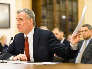 Mayor Bill de Blasio testifies to a House subcommittee on terrorism cuts.