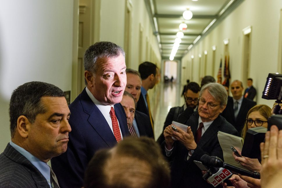De Blasio Refuses to Answer Question From the 'Propagandistic' New York Post