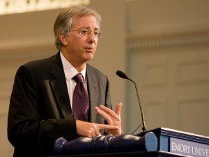 Dennis Ross speaks at Emory University.