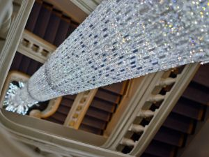 The grandest chandelier in the grandest house.