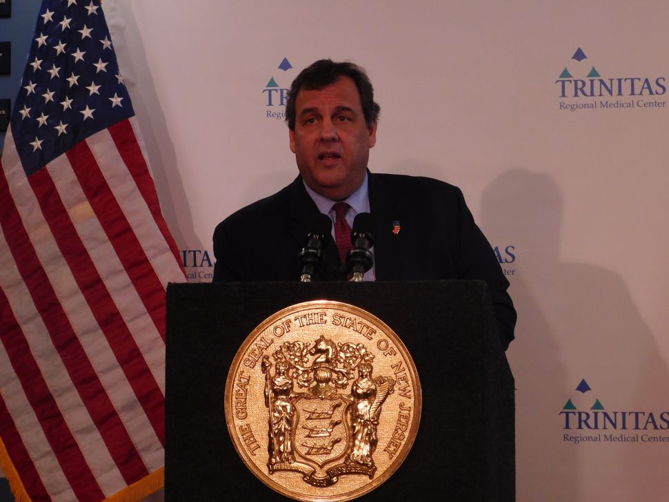 Christie Goes After 'Hudson Boss' Fulop at Monmouth Presser