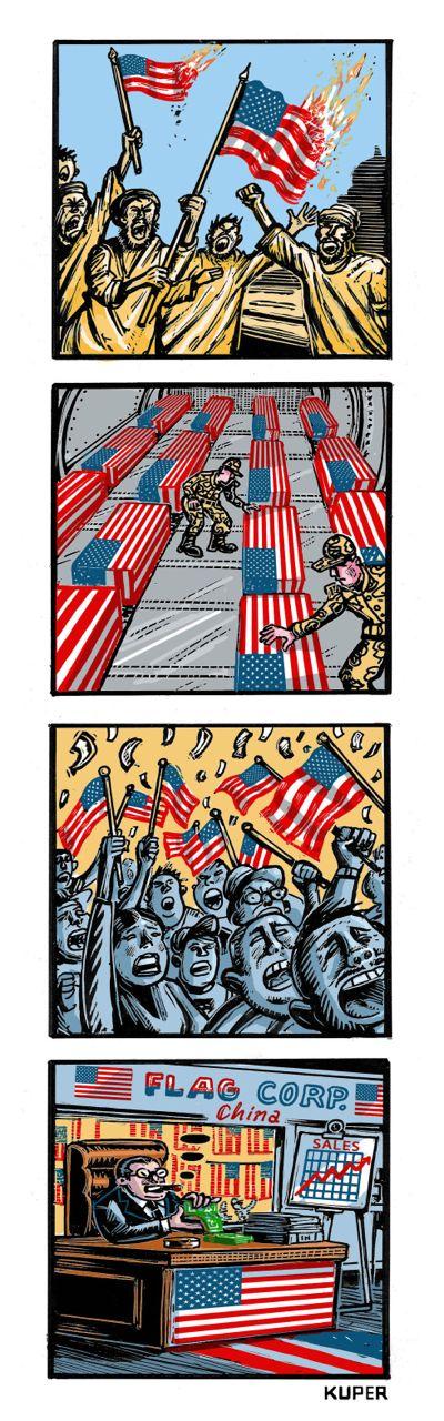 Stars and Strife: Cartoonist Peter Kuper on Flag Frenzy