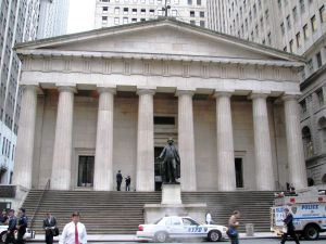 Federal Hall National Memorial on Wall Street.