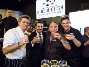 Curtis Stone, Matt Erickson, Jose Andres and Rob Floyd at 'Dine-n-Dash' at SLS Las Vegas.