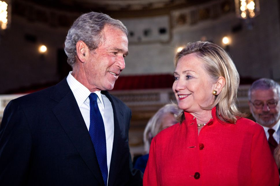 The Troubling Friendship of Hillary Clinton and George W. Bush