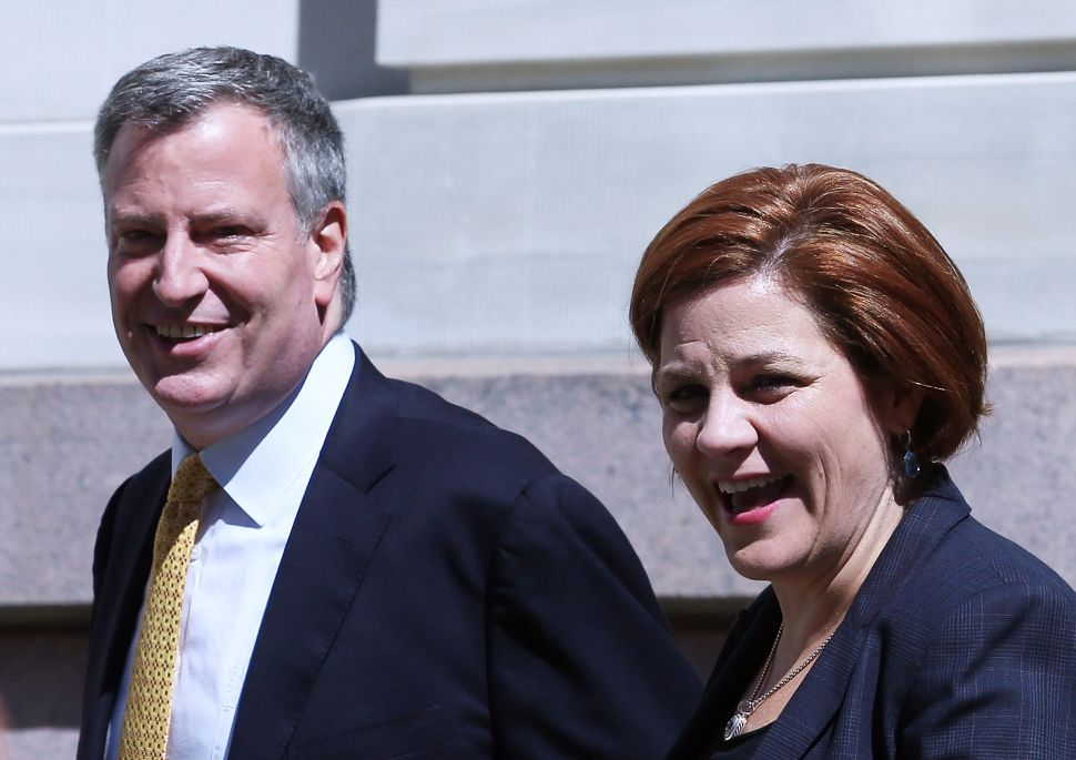Christine Quinn, de Blasio's 2013 Opponent, Endorses His Re-election