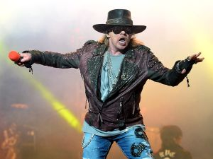 "LAS VEGAS, NV - MAY 21: Singer Axl Rose of Guns N' Roses performs at The Joint inside the Hard Rock Hotel & Casino during the opening night of the band's second residency, ""Guns N' Roses - An Evening of Destruction. No ""Trickery!"" on May 21, 2014 in Las Vegas, Nevada."