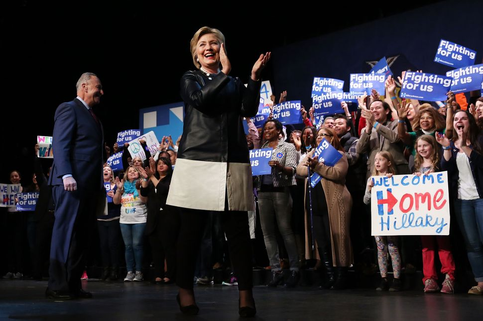 Hillary Takes Double Aim at Bernie and Trump in Harlem