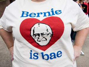 A Bernie fan in the Bronx.
