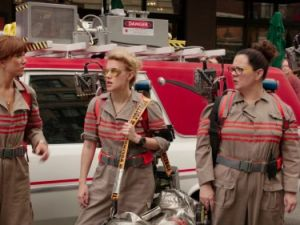 Kristen Wiig, Kate McKinnon, Melissa McCarthy and Leslie Jones in Ghostbusters trailer (Photo: Screenshot via Youtube)
