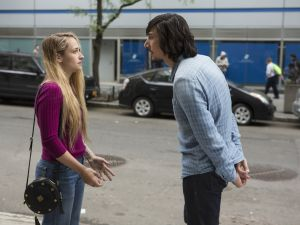 Jemima Kirke and Adam Driver in Girls.