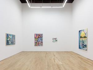 """Hill of Munch,"" co-curated by Brian Belott at Rachel Uffner Gallery."