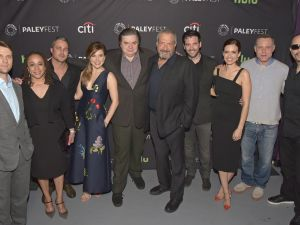 Jesse Spencer, S. Epatha Merkerson, Taylor Kinney, Sophia Bush, Oliver Platt, Creator/EP Dick Wolf, Colin Donnell, Torrey DeVitto, Jason Beghe, and Ice-T at Paley Center in Los Angeles.