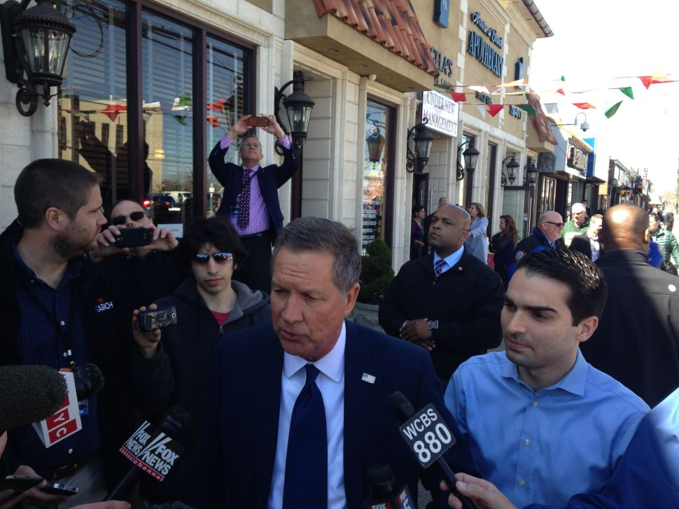 John Kasich Fundraises For Queens Councilman's Mayoral Run
