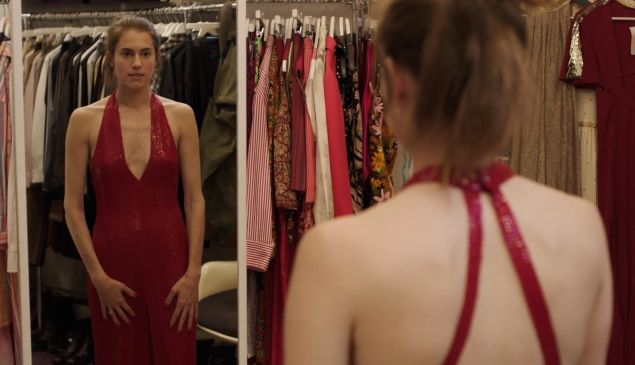 The girl in the mirror: Allison Williams as Marnie in Girls