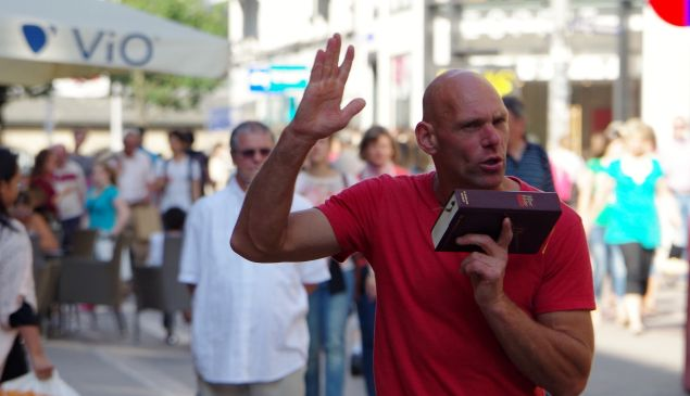 Hamburg Famous Street Preacher, July 11, 2013