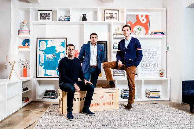 Paddle8 founders shot in their NYC offices.