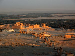 The Great Colonnade in Palmyra, Syria.