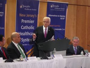 Booker, Pascrell and Menendez discuss opiate addiction.