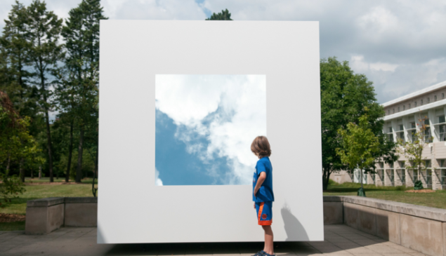 """""""Skycube"""" by David Wallace Haskins at the Elmhurst Art Museum"""