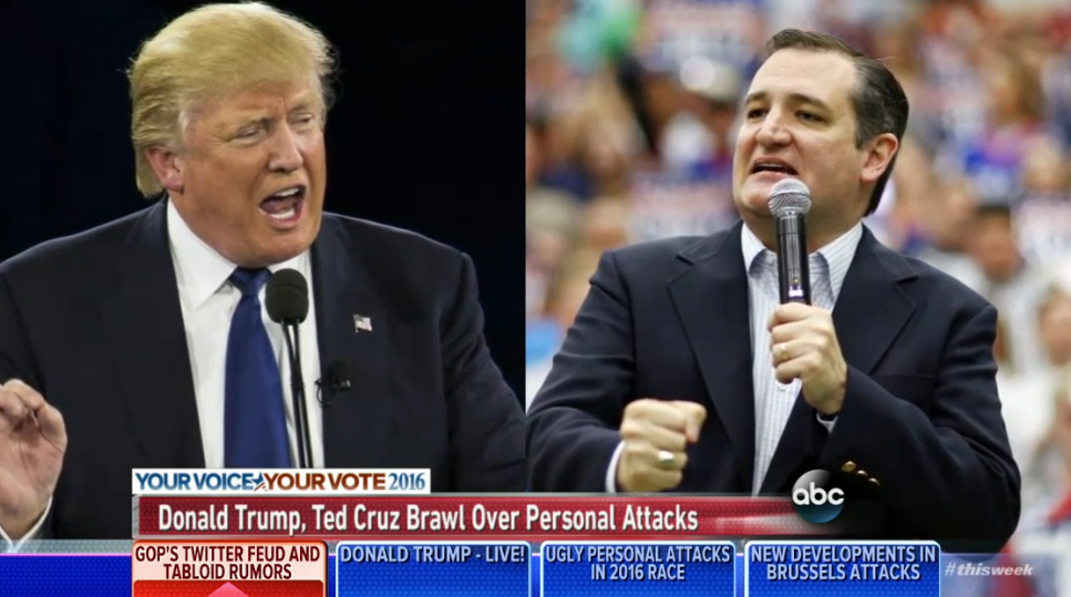 Despite Backlash in Brussels, Trump and Cruz Still Fight About Their Wives
