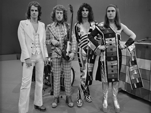Slade appearing on Top of the Pops.