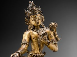 Tenzing Asian Art (San Francisco, CA) Pagpa Chenrezig (Padmapani-Lokeshvara) Tibet (Newar School) Circa 13th Century.