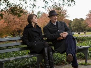 Keri Russell and Frank Langella in The Americans.