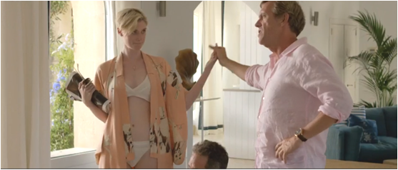 Elizabeth Debicki and Hugh Laurie in The Night Manager.