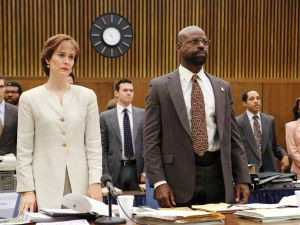 Just get it on, you two! Marcia Clark (Sarah Paulson) and Chris Darden (Sterling K. Brown) on The People V. O.J. Simpson.