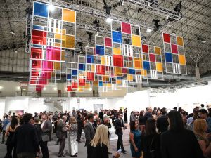 "Daniel Buren, ""From three windows, 5 colours for 252 places,"" work in situ, 2006, Courtesy of the artist and Lisson Gallery, London, part of the IN/SITU program at EXPO CHICAGO/2015 curated by Louis Grachos."