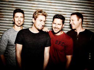From left, Nickelback: Daniel Adair, Chad Kroeger, Ryan Peake, Mike Kroeger.