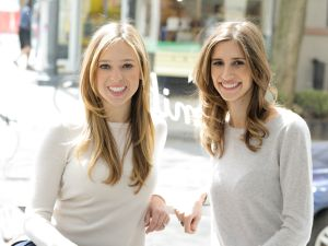Danielle Weisberg and Carly Zakin, who founded theSkimm three years ago.