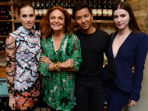 Allison Williams, Diane von Furstenberg, Prabal Gurung, Nell Diamond