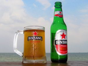 Bintag Beer's logo features a red star.
