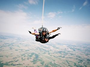 Skydiving makes a regular first date seem much less intimidating