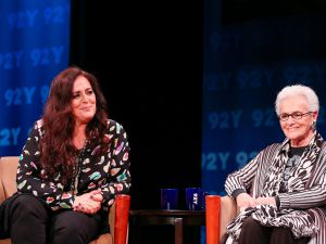 Angela (left) and Rosita (right) Missoni discuss the legacy of their label with Fern Mallis