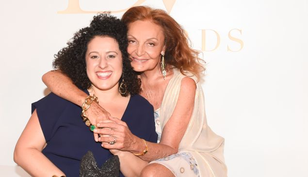 Diane Von Furstenberg and Emily Greener