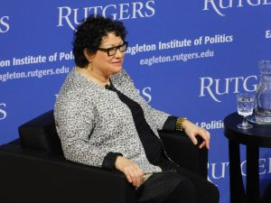 Justice Sotomayor visted Rutgers University to speak.