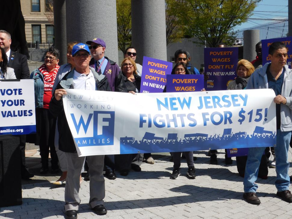 In Trenton, Low-Wage Workers Rally for $15 Minimum Wage Boost
