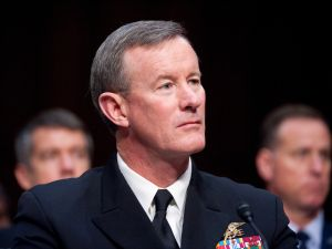Retired Navy Adm. William McRaven, former commander of the U.S. Special Operations Command, testifies before during the Senate Armed Services Committee in 2012.