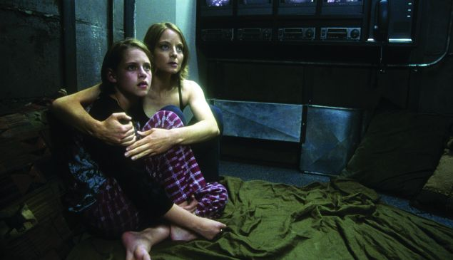 Homebound security: Jodie Foster and Kristen Stewart in the 2002 film Panic Room.