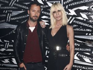 Anthony Vaccarello with Donatella Versace
